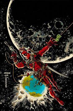 Nick Fury/Jim Steranko #6 cover homage featuring Deadpool.