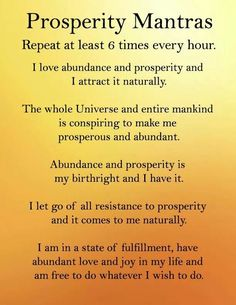 Prosperity mantras / daily positive affirmation for wealth