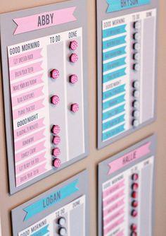 DIY IKEA Job Charts -20 IKEA Hacks Thatll Keep You Organized in 2017 via Brit + Co