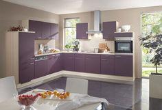 Роскошные кухни в фиолетовых тонах