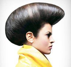 Classy Updo, Elegant Updo, Up Hairstyles, Hairdos, Helmet Hair, Sleek Updo, Extreme Hair, Vintage Fashion, Vintage Style
