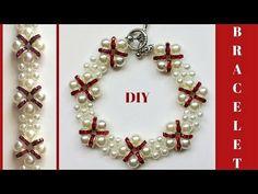 Beaded Bracelet. How to make a bracelet with beads -Easy, Elegant, Fast ! Handmade jewelry. - YouTube