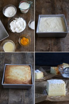 Gluten Free Custard Cake. Step-by-step directions with simple ingredients makes a magic cake!