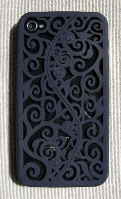 Designer iPhone 4S Victorian Filigree Swirl Case (3D printed Nylon) - so pretty but worth $75?