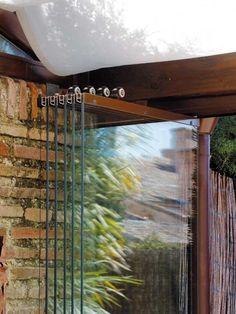cerramiento de cristal para el porche Pergola Garden, Backyard Landscaping, Comfy Room Ideas, Outdoor Dance Floors, Movable Walls, Floating House, Big Windows, Folding Doors, Country Farm