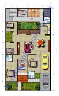 15 Desain Rumah Mewah 1 Lantai 4 Kamar | Desain Rumah Modern
