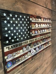 Old Glory Challenge Coin HolderYou can find Challenge coin display diy and more on our website.Old Glory Challenge Coin Holder Woodworking Jobs, Woodworking Patterns, Easy Woodworking Projects, Popular Woodworking, Woodworking Furniture, Wood Projects, Wood Furniture, Woodworking Basics, Woodworking Articles