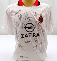 AC Milan Team Signed Jersey - Sports Memorabilia