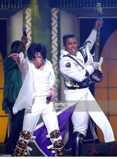 Michael Jackson & Jermaine Jackson during Michael Jackson's 30th Anniversary Celebration - 2nd Show at the Madison Square Garden in New York City, New York.