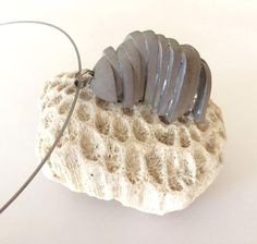 Concrete Necklace Harmony silver surgical steel