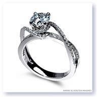 Mark Silverstein Split Shank 18k - White Gold Diamond Engagement Ring