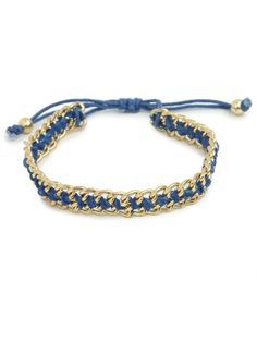 we love the craftwork of our cobalt chain bracelet