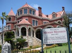Moody Mansion in Galveston. I love history and home design, so this is probably one of my favorite places to go for both.