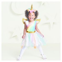 Toddler Girls' Rainbow Unicorn Costume 18-24 Months - Hyde and Eek! Boutique, Multicolored