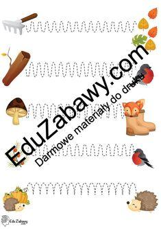 Jesień: Szlaczki (10 kart pracy) Jesień Karty pracy Karty pracy (Jesień) Szlaczki Word Search, Words, Horse