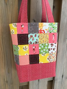 Dance Bag  Ballet Bag  Tote  Dance Tote  Patchwork by GabryRoad