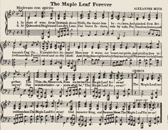 Sheet music - The maple leaf forever