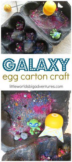 Create an Egg Carton Galaxy, a Fun Craft for Preschoolers! | Little Worlds Big Adventures