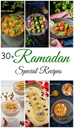 Find 30 + easy Ramadan special recipes with step by step instructions. iftar recipes are also included in this compilation. Easy Iftar Recipes, Healthy Ramadan Recipes, Ramadan Special Recipes, Halal Recipes, Indian Food Recipes, Asian Recipes, Cooking Recipes, Healthy Recipes, Eid Recipes