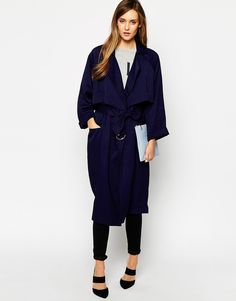 Image 1 ofWhistles Laura Soft Trench Coat