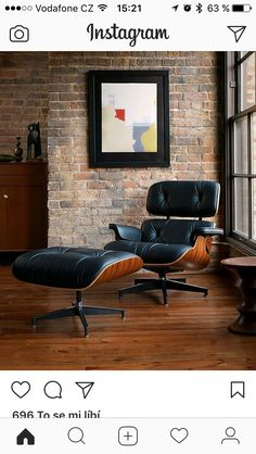 Mid-century furniture: These Eames Chair Lounge is exactly what you need in your mid-century modern home. Lounge Chair Vitra, Eames Chairs, Room Chairs, Dining Chairs, Office Chairs, School Chairs, Ikea Chairs, Rocking Chairs, Man Cave Furniture