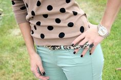 polkadots, leopard and mint!