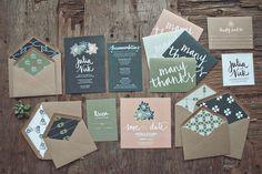 Festival Wedding Stationery – Cardboard/Brown Paper
