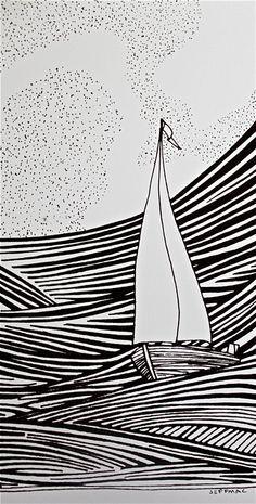 boat linocut - Szukaj w Google