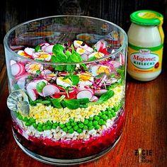 salatka wielkanocna, wielkanocna salatka, przepisy na wielkanoc, wielkanocne przepisy, wiosenna salatka, salatka warstwowa, wielkanoc, salatka z buraczkami, majonez kielecki, salatka z majonezem kieleckim, przepisy z majonezem kieleckim, majonez kielecki przepisy, zycie od kuchni Easter Recipes, Acai Bowl, Food And Drink, Healthy Eating, Appetizers, Breakfast, Kitchen, Easter Party, Kitchens