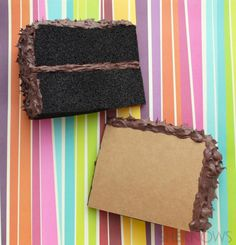 How fun would this be to receive???Mailable cake postcard