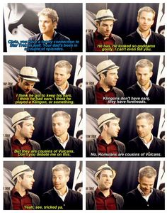 Chris Pine and Zachary Quinto Star Trek Interview :: ZQ: *shakes head*