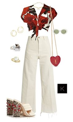 """""""Untitled #4074"""" by kimberlythestylist ❤ liked on Polyvore featuring Rachel Comey, Alice + Olivia, Gucci, Yves Saint Laurent, Alexis Bittar and Acne Studios"""