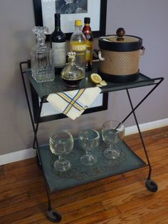 Vintage Bar Cart $35 - Chicago http://furnishly.com/catalog/product/view/id/843/s/vintage-bar-cart/