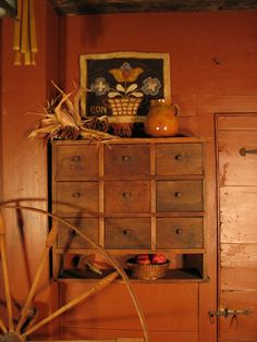 My Red Cape: November starts the Holidays for us Primitive Living Room, Country Primitive, Primitive Decor, Primitive Shelves, Primitive Fall, Prim Decor, Primitive Antiques, Primitive Gatherings, Hand Hooked Rugs