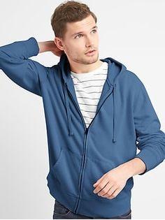 Gap Mens Water-Repellent Hoodie - Tapestry Navy S Regular Mens Sweatshirts, Hoodies, Mens Activewear, Getting Cozy, Hooded Jacket, Active Wear, Sweatpants, Long Sleeve, Sleeves
