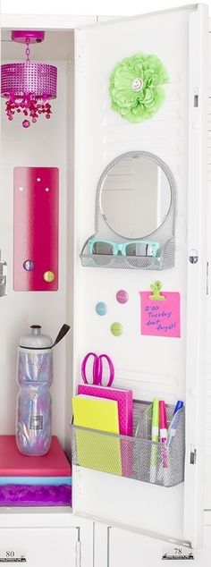 Hello again, all fans of locker decor! A great way to organize and decorate your locker would be to add post-it sticky notes, reminders, and magnets! These not only remind you of a test, quiz, or big assignment, they also make your locker look more colorful and less plain! Remember to follow my account for more updates and news about how to keep your locker looking fresh, new, organized, and up-to-date!