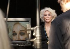 """(HBO Documentary...pinning so I don't forget about it) In """"About Face,"""" former supermodels (including Carmen Dell'Orefice shown above) talk about what it's like to grow old in an industry that is obsessed with youth."""