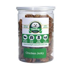 Lucky Premium Treats Chicken Jerky For Dogs, Made in the USA Only - Fillets, Bites, Strips ** Be sure to check out this awesome product. (This is an affiliate link) #DogTreats