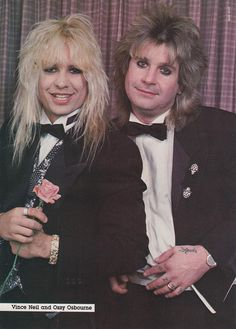 Vince Neil of Motley Crue with Ozzy Osbourne