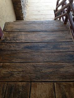 Stamped Concrete Patterns And Colors Boardwalk Wood
