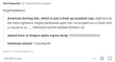 19 Really Funny Harry Potter Posts That You Maybe Haven't Seen Yet Harry Potter Tumblr Posts, Harry Potter Jokes, Harry Potter Fandom, Funny Tumblr Posts, Funniest Tumblr, Super Funny, Really Funny, American Wizarding School, No Muggles
