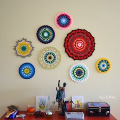 Mandala Wall Art - how to stiffen and hang on wall
