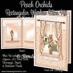 Peach Orchids Rectangular Window Mini Kit : The Designer Twins ...where creativity encounters quality and value