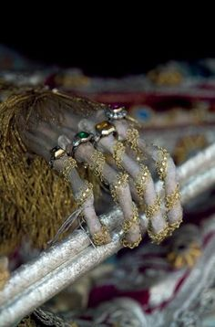 The skeletal hand of St Valentin is decorated with opulent rings and expensive garments. Each would have taken up to five years to dress back in the 16th century, with thousands of pounds of jewels, silver and gold. They were renamed as saints, although none of them qualified for the title as the Catholic church requires saints to have been canonised.