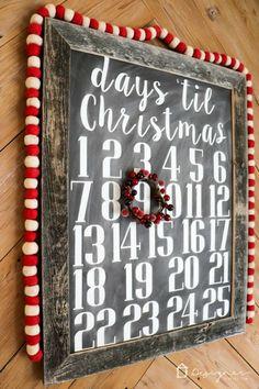 DIY Christmas Countdown Calendar #christmas #christmascountdown #advent