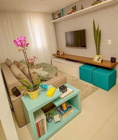 Simple Living Room, Small Living Rooms, Living Room Designs, Living Room  Decor,