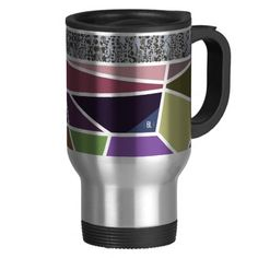 Tulip fields on a grey day thermo mug taza térmica