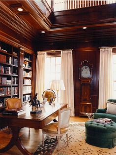Traditional Home Office Library Design, Pictures, Remodel, Decor and Ideas
