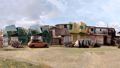 Favelas, by Dionisio Gonzalez, blends modernist architecture into Brazilian shantytowns.