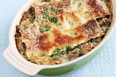 Meatless Monday: Light Mushroom Lasagna. This is made with no boil noodles. Less the mess. *like*